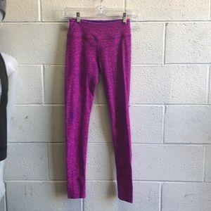 Beyond yoga pink & purple full legging sz xs 61808